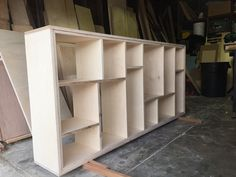 Post with 3 votes and 5069 views. Plywood Bookcase, Pantry Design, Wall Shelving Units, Bookcase Plans, Bookcase Wall, Bookcase Diy, Modern Vintage Furniture, Baltic Birch Plywood, Plywood Diy