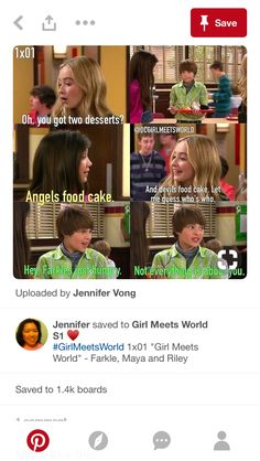 Girl Meets World Farkle, Maya And Riley, Old Disney Channel, Boy Meets Girl, Disney Shows, Pick Up Lines, Try Harder, True Quotes, Movies And Tv Shows