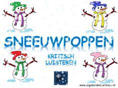 Digibordles op digibordonderbouw. Sneeuwpoppen: kritisch luisteren. http://digibordonderbouw.nl/index.php/themas/winter/sneeuwpoppen/viewcategory/182