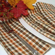 Fall Checkered Napkins