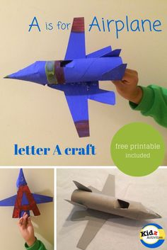 A is for Airplane - letter A craft by Kidz Activities