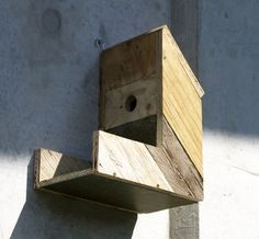 Dijkhuisje 600x556 Birdhouses made from old construction materials in wood garden 2 diy  with Wood Recycled DIY Bird