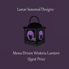 Merchant: Lunar Seasonal Designs Prize Name: Menu Driven Wisteria Lantern Prize Type: Decor