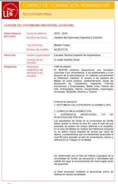 Patrimonio Industrial Arquitectónico: Máster en Gestión del Patrimonio Industrial (MAPIN...