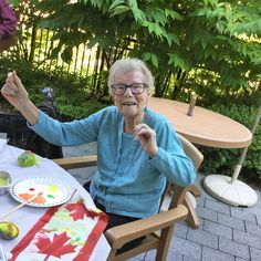 The ladies at Thornebridge Gardens Retirement Residence in New Westminster enjoyed some creative expression through painting garden rocks for their planters! 😀 #vervecares #community #goodtimes #planting #garden