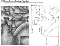 worksheets for shading, value, form, perspective, etc.