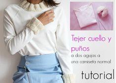 enrHedando: Como tejer cuello y puños a una camiseta