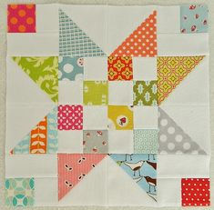 scrappy stars {August blocks for Trust Circle of di do. Good Stitches} | Flickr - Photo Sharing!