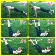 The Bum and Tum Scorcher Pilates workout.