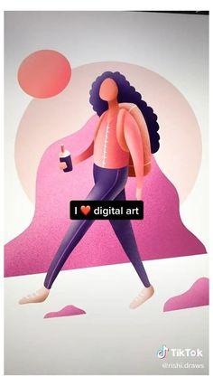 Digital Painting Tutorials, Digital Art Tutorial, Art Tutorials, Drawing Tutorials, Cartoon Drawing Tutorial, Cartoon Drawings, Digital Art Beginner, Arte Sketchbook, Ipad Art