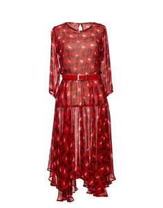 Hem it for a casual summer dress? I AM dress- Red- Andrea Moore Casual Summer Dresses, Summer Ideas, Dress Red, Dresses With Sleeves, Long Sleeve, Clothes, Fashion, Red Gown Dress, Outfits