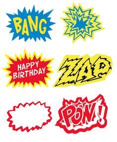 free printable for super hero theme