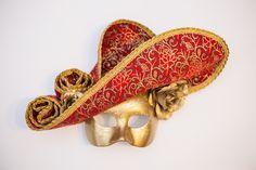 """Венецианская карнавальная маска """" Lady in Red"""" – купить в интернет-магазине на Ярмарке Мастеров с доставкой"""
