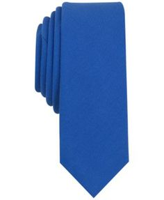 An essential piece for the modern wardrobe, this Pine Solid tie from Penguin has a rich texture and slim design. | Polyester/cotton/spandex | Dry clean | Imported | Slim design | 2.25'' wide | Web ID: