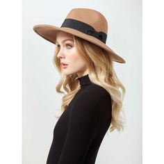 Miss Selfridge Camel Oversized Fedora Hat ($9) ❤ liked on Polyvore featuring accessories, hats, camel, wide fedora hat, band hats, miss selfridge, wool fedora hats and camel fedora hat