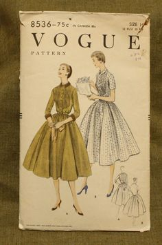 Vogue 8536 Vintage 1950s Dress Sewing Pattern by EleanorMeriwether, $14.00
