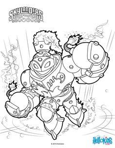 Skylanders Trap Team Character Flip Wreck Coloring Sheet