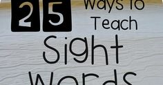 I'm going to share with you some fun and engaging ways to teach sight words.  I mentioned in this post , that I LOVE teaching sight wor...