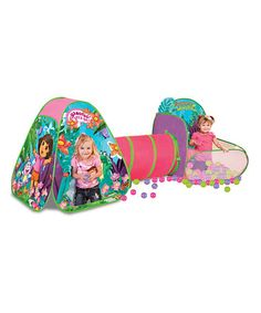 Take a look at this Pink & Green Dora Playzone by Dora the Explorer on #zulily today!