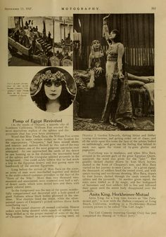 Cleopatra (1917) was an American silent historical drama film based on H. Rider Haggard's 1889 novel Cleopatra and the plays Cleopatre by Émile Moreau and Victorien Sardou and Antony and Cleopatra by William Shakespeare. The film starred Theda Bara in the title role, Fritz Leiber, Sr. as Julius Caesar, and Thurston Hall as Mark Antony. The film is now considered lost, with only fragments surviving.
