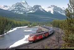 RailPictures.Net Photo: CP 1416 Canadian Pacific Railway EMD FP7 at Lake Louise, British Columbia, Canada by Bill Edgar