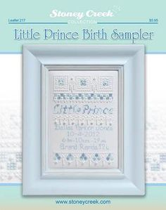 """Little Prince Birth Sampler"" by Stoney Creek"