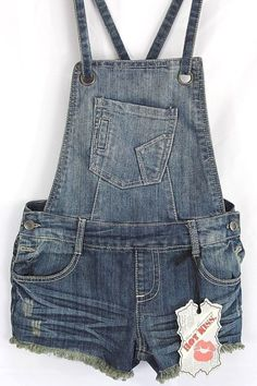 c406d41e95 Details about Hot Kiss Womens Shortalls Size 7 Denim AVA Bib Overalls  Shorts Cutoffs BoHo