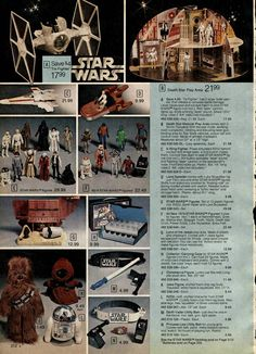 Star Wars Action Figures from a 1979 catalog #vintage #1970s #toys