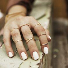 Las uñas y anillos que queremos <3