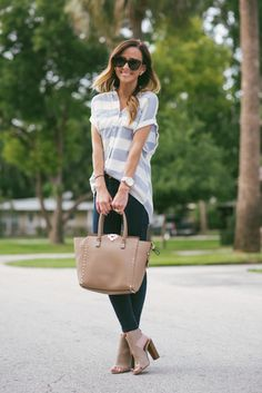 Stripes + Summer Booties