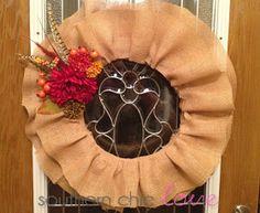 Southern Chic Love: fall ruffle wreath tutorial