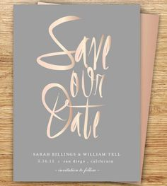 ♡ Calligraphy Save The Date, Blush, Gray, Rose Gold, Elegant Gold Wedding, Dream Wedding, Wedding Day, Blush And Grey Wedding, Chic Wedding, Save The Date Invitations, Save The Date Cards, Save The Date Ideas, Save The Date Wording