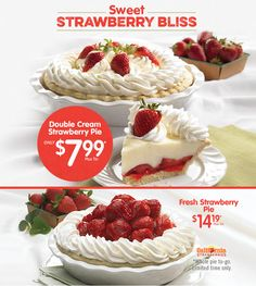 Marie Callender S Piemakespeoplehy Make Spring Delicious With Our Strawberry Pies Pie Strawberrypie Mariecallenders Dessert