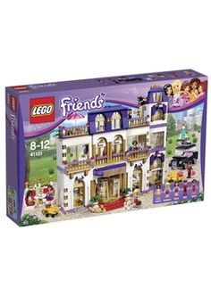 Buy LEGO Friends 41101 Heartlake Grand Hotel Building video Now. Enjoy an amazing stay at Heartlake City's Grand Hotel! Heartlake Grand Hotel over 3 modular stories has an ele. Lego Friends Sets, Dog Friends, Lego Sets, Lego Ninjago, Lego Duplo, Lego Ville, Top Gifts, Best Gifts, Dj Pult