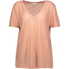 Splendid Desert metallic cotton and modal blend T shirt ($110) ❤ liked on Polyvore featuring tops, t-shirts, red t shirt, lightweight t shirts, red top, splendid tees and metallic t shirt