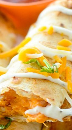 Try it with a Paqui Buttermilk Tortilla #paqui #recipe Baked Buffalo Chicken Taquitos