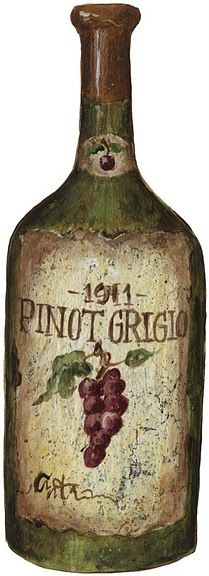 Pinot Grigio.  Still looking for a picture of the wine designed for us older folks, Pinot More......