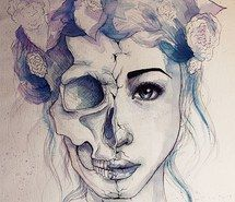 Inspiring image blue, amazing, eyes, skeleton, skills, girl, skull, art, beauty, lips, cool, life, bones, style, awesome, death, drawing, fashion, beautiful, sketch, purple, pen drawing, artwork, paint, young #1525645 by aaron_s - Resolution 500x693px - Find the image to your taste