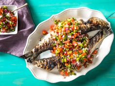 Molho à campanha is a lot like Mexican pico de gallo, except it uses vinegar instead of citrus juice and adds more peppers to the mix. It's most commonly served alongside charred steaks, but it's just as good spooned over grilled whole fish.