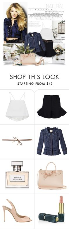 """""""Natural Lifestyle"""" by thewondersoffashion ❤ liked on Polyvore featuring A.L.C., Dorothee Schumacher, ALMAROSAFUR, Rebecca Taylor, Ralph Lauren, Mansur Gavriel, Casadei and Oribe"""
