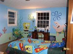 spongebob room painted - Spongebob Bedroom Set