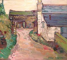 Farmyard near Common moor, liskeard, oil on canvas.