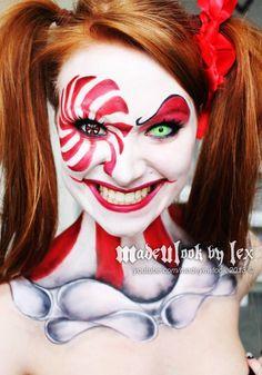 Creepy clown halloween makeup face painting FOR Ariel Clown Halloween, Gruseliger Clown, Clown Faces, Halloween Looks, Halloween Costumes, Clown Costumes, Circus Clown, Halloween 2013, Happy Halloween