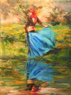 Robert Krogle Modern Gypsy, She's A Lady, Historical Art, Abstract Drawings, Beautiful Paintings, Figurative Art, Art Education, Female Art, Gallery