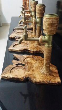 Sefa Çeşmesi.Cyprus Handmade Alcohol Dispenser wooden. Sefa Çeşmesi