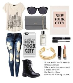 """Welcome to New York, Its been waiting for ya"" by jojo888 ❤ liked on Polyvore featuring Banana Republic, Urban Outfitters, Casetify, DKNY, Yves Saint Laurent, BCBGMAXAZRIA, Chanel, Christian Dior and Bobbi Brown Cosmetics"