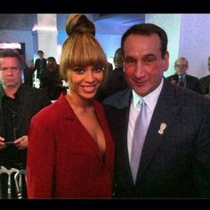Coach K and Bey. AWESOMESAUCE.