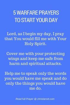 5 Powerful Spiritual Warfare Prayers to Start Your Day - Morning Prayers Prayer Times, Prayer Scriptures, Bible Prayers, Faith Prayer, Prayer Quotes, Bed Quotes, Bible Verses, Prayers For Men, Life Quotes