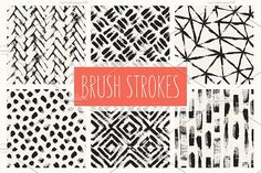Brush Strokes. Seamless Patterns v.1 by Curly_Pat on @creativemarket