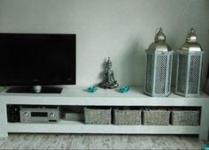 tv kast gemaakt van steigerhout